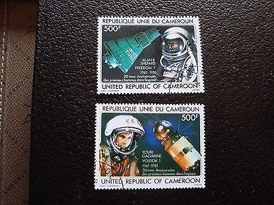 cameroon - stamp yvert and tellier air n° 305 306 obl (A01) stamp cameroon