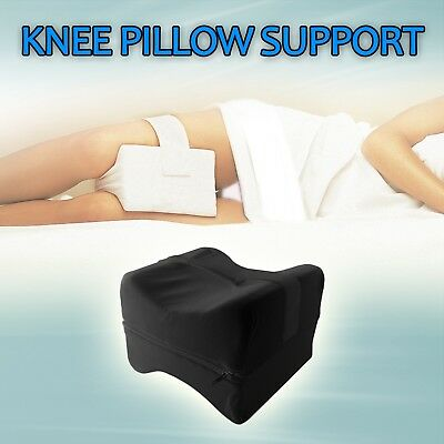 Black KNEE SUPPORT PILLOW ORTHOPAEDIC BACK LOWER BACK PAIN RELIEF