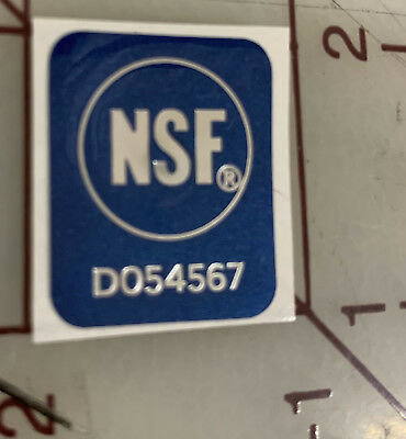 NSF Sticker Decal National Sanitation Foundation Restaurants Electrical Safety