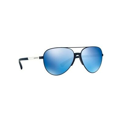 334d615b219 New Emporio Armani EA2059 320255 Sunglasses Matte Blue Mirror Lens 61mm NIB