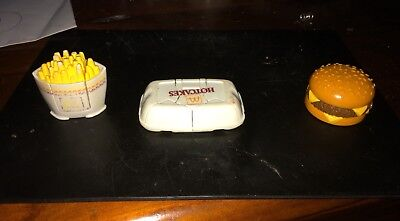 3 x McDonald's Toys Vintage 1990  Changeables Transformer Happy Meal