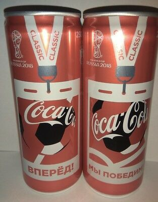 Coca-Cola set of 2 cans 250ml.FIFA WORLD CUP RUSSIA 2018 Limited Edition