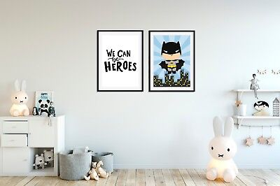 Batman Prints for Boys Bedroom, We Can Be Heroes, Boys Batman Pictures