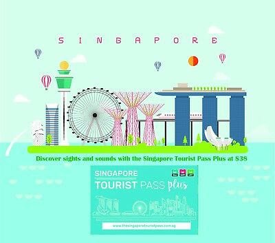 3-DAY SINGAPORE TOURIST PASS PLUS (Bus, MRT and LRT trains / Rechargeable)