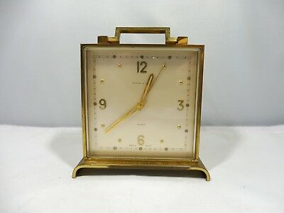 Antique Tiffany And Co. Art Deco Style Wind Up Brass 8 Day Clock Working