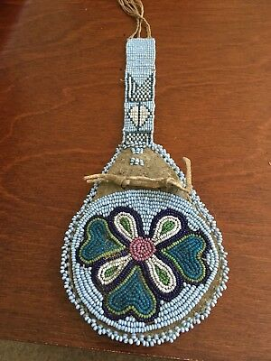 Antique Plains Indian Floral Medicine Belt Bag