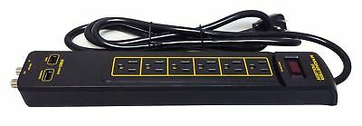 Monster Power Gold 600 American Extension Lead 6 Outlet USB Surge Protector