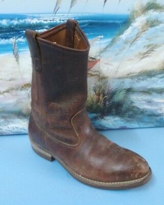 mens brown IRON AGE cowboy western work boots  leather 8 D