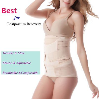 All Sizes 2 Parts Lady Postpartum Belly Pelvis Waist Shape Recover Slim Belts