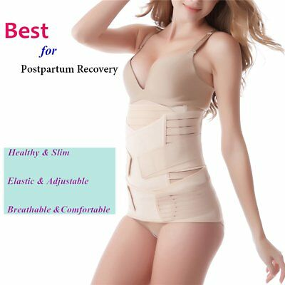 All Sizes 3 Parts Lady Postpartum Belly Pelvis Support Shape Recover Slim Belts