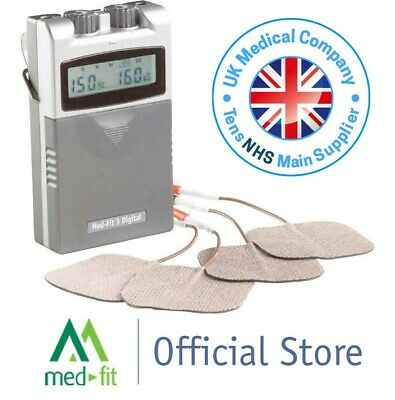 Med-Fit 3 Digital Dual Channel Tens Machine for Accurate Effective Pain Relief