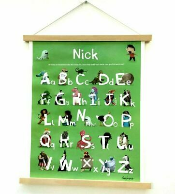 Magnetic Wooden Poster Hanger Frame Home Artwork Photo Scroll Decor Print DIY UK