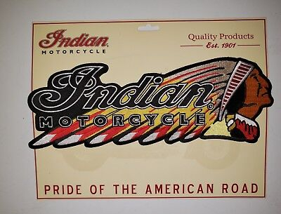 INDIAN MOTORCYCLE***LARGE BACK PATCH...Iron On...FAST FREE SHIPPING!