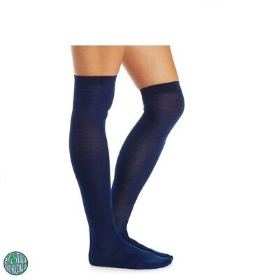 774a1393cc904 Navy Blue Over The Knee Thigh Socks Back To School Girls Ladies Uk Size 4-