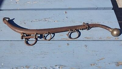 Antique Rustic Metal Horse Mule Hame Harness Collar Yoke Drawn Plow Farm Tool