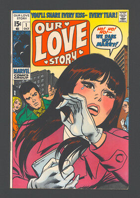"OUR LOVE STORY #1 ""1969"". Plus: HARVEY #1 ""1970"". Both are published by Marvel."