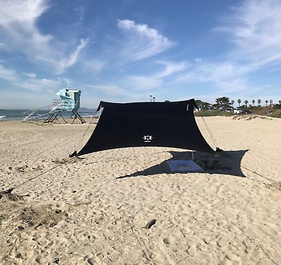 Neso Tents Beach Tent with Sand Anchor, Portable Canopy Sun Shelter (Black)