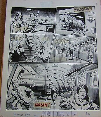 Action Force  #619 Pg 3 - John Cooper Original Artwork
