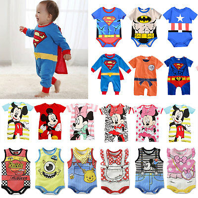 Infant Newborn Baby Romper Jumpsuit Bodysuit Girl Boy Clothes Outfits Sunsuit UK