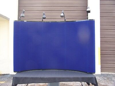 "Skyline Mirage 6' x 52"" Classic Convex Tabletop Blue Display Tradeshow & Case"