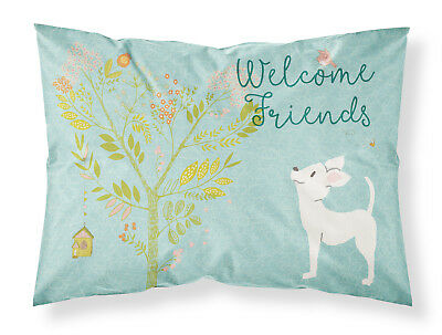 Welcome Friends White Chihuahua Fabric Standard Pillowcase