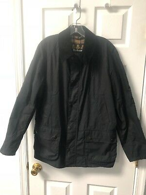 Barbour x J.Crew Sylkoil Ashby Jacket in Navy Waxed Cotton Medium