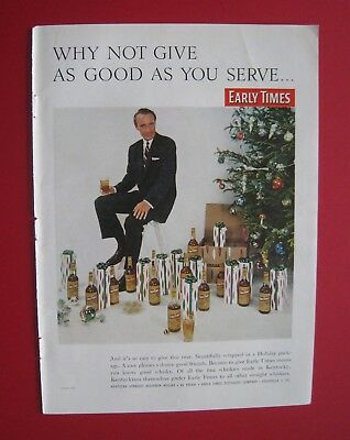 1957 Early Times Whisky - Why not give as good as you serve Color AD