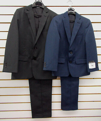 Boys Van Heusen $100 2pc Black or Dark Blue Suits Size 8 - 14