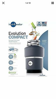 InSinkErator Evolution Compact   3/4 HP Household Garbage Disposer   New