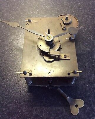 Large antique single fusee clock movement for restoration.