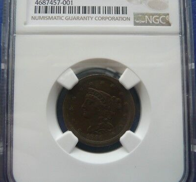 1850 1/2C C-1 Ngc Au55 Bn!! Only 39,812 Minted!!