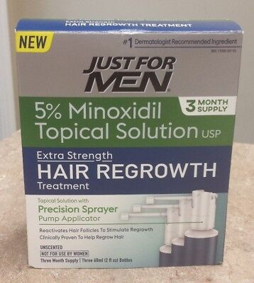 Just For Men Extra Strength Hair Regrowth Treatment, 5% Minoxidil - NEW! - E2534