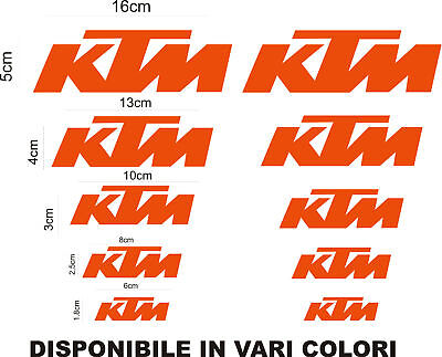 Orange Stickers Grafic Moto Ktm Logo Set Vinyl Decals Motorcycle Race