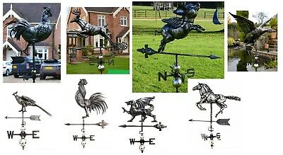 PRIMUS Range : Stainless Steel 3D Weather Vane : Deer/Horse/Duck/Pig/Rooster