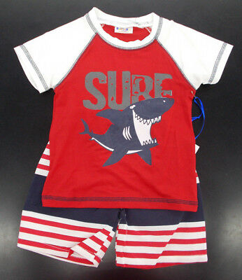 Infant Boys Swet & Soft 2pc Red, White, & Navy Swim Set Sz 12 Months - 24 Months