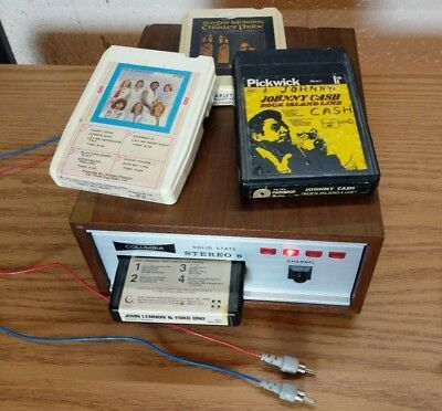 Columbia Solid State 8 Track Tape Stereo Cartridge Deck - Tested / Works