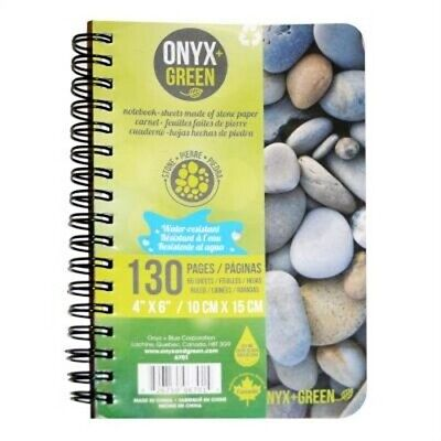 "Notebook, 4""x6,"" Side Coil, 65 Ruled Sheets, Stone Paper (Hardback or Cased Book"