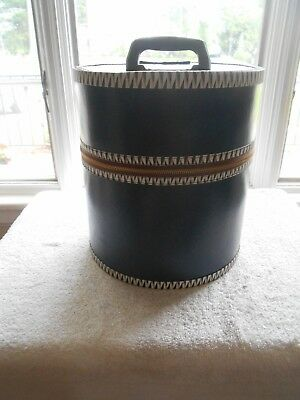 Vintage Hatbox/wig Box-Royal Blue