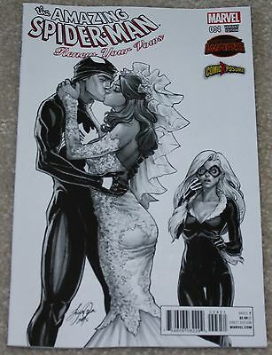 Amazing Spider-Man Renew Your Vows 4 Siya Oum B&w Sketch Variant 606 Campbell 3