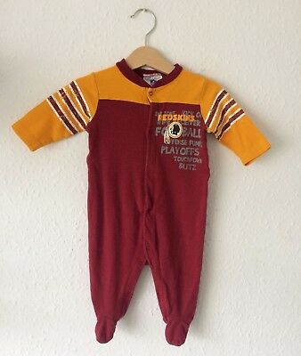 Retro Baby Kids NFL Redskins Sportswear All In One Romper Playsuit Babygrow 0-6M