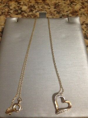 d1c55bf1c00a0 ZALES 10K YELLOW Gold Chain with Heart Pendant with Original Box