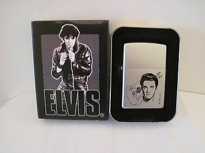 NEW Elvis Presley Elvis with Guitar Zippo Lighter, Bradford, PA, Tin