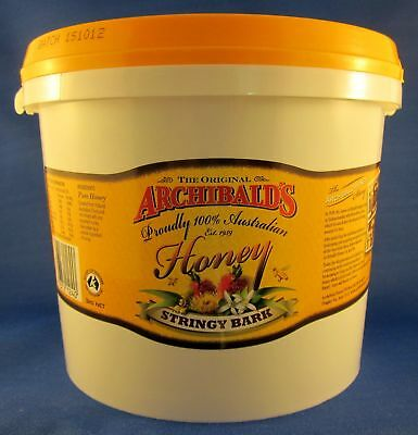 Stringybark honey, 3 kilo tub, free shipping, Archibalds, 100% Australian honey