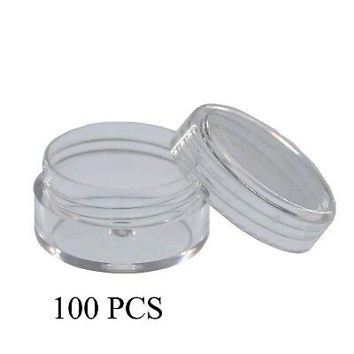 SumDirect 100Pcs 5Gram Clear Empty Cosmetic Containers Jars Sample Pots Bottles,
