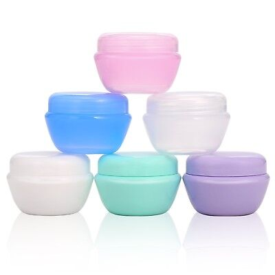 ZOADLE Small Plastic Travel Cosmetic Containers with Leakproof Inner Lid, Air Tr