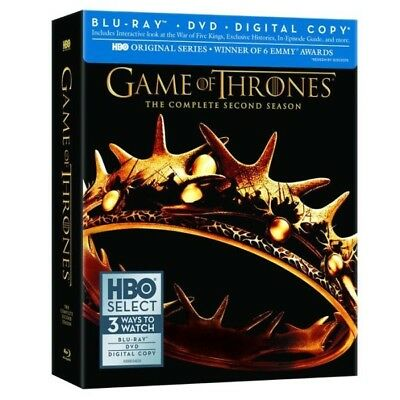 Sealed New 7-Disc GAME OF THRONES SECOND SEASON BLU RAY DVD REGION 1 *Free Ship*