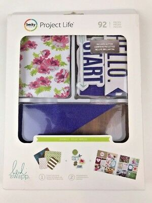Project Life Value Kit (92) Pieces For Scrapbooking Heidi Swapp