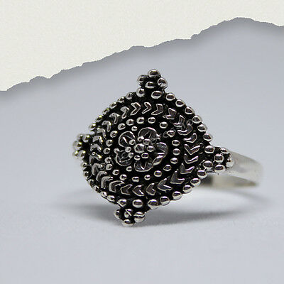 Handmade Beaded Sterling Silver Ring
