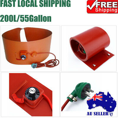200L/55Gallon 1000W Silicon Rubber Band Heater for Metal Oil Drum Heating 1PC AU