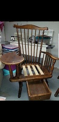 Heywood Wakefield 1960's Maple Teacher's Arm Chair with Writing Desk Windsor...